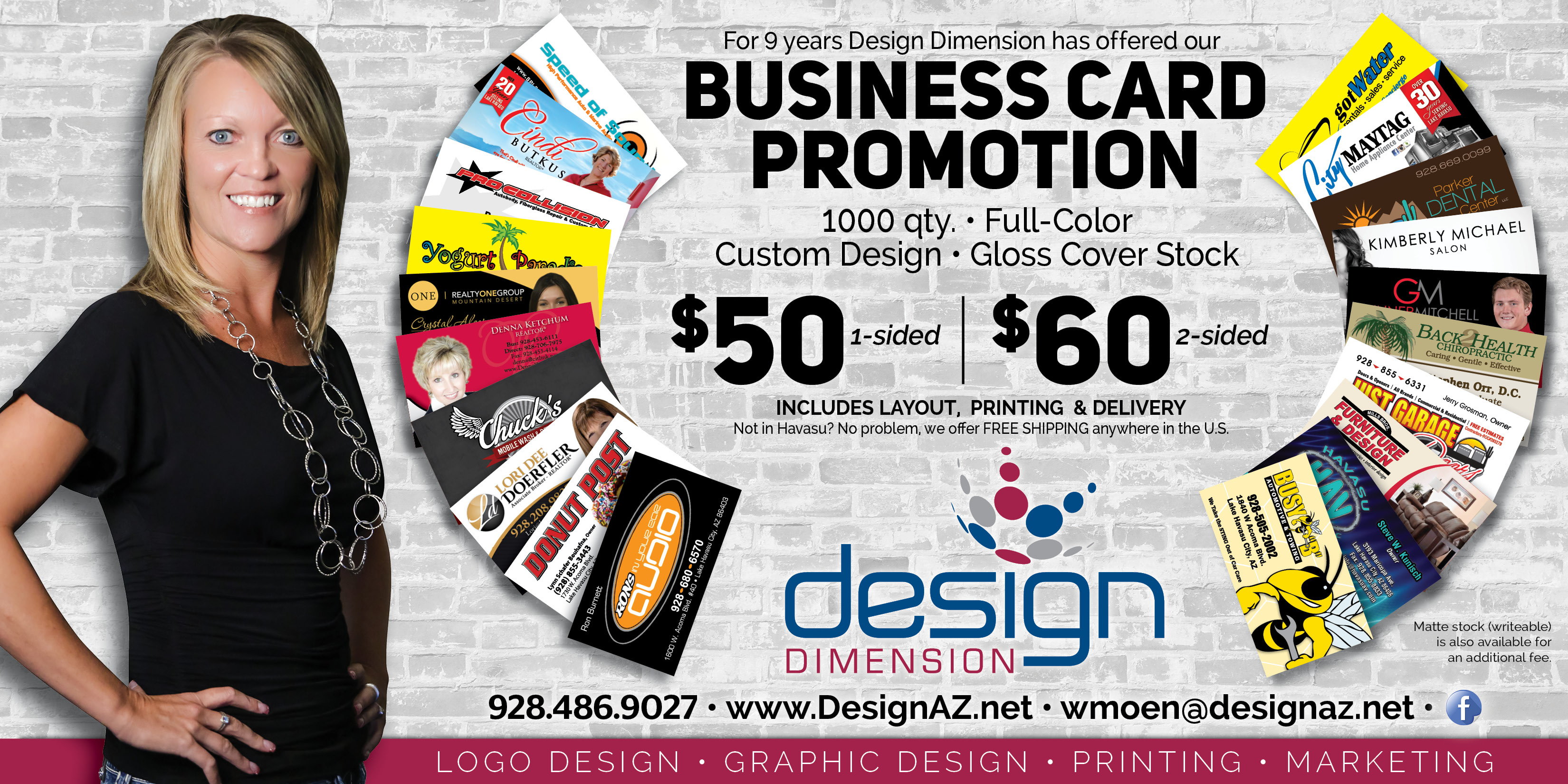 Design Dimension - Business Card Promo